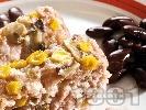 Рецепта Руло със свинска кайма, гъби и царевица